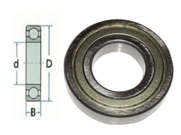 Metrische kogellager met afdichting D10mm x d4mm x B4mm  Per Stuk