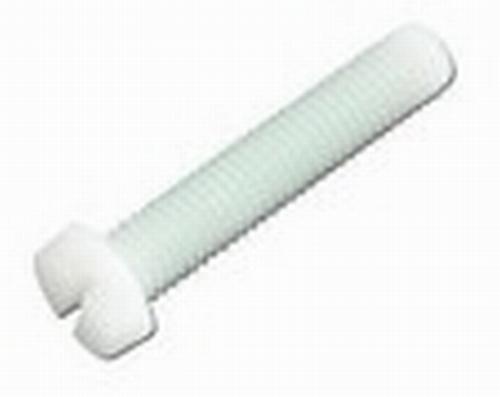 Kunststof cilinderschroef met zaaggleuf M3 x 10  Per 10 stuks