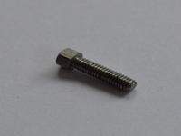 Modelbouwbout Staal M2,5 x 15mm met verhoogde kop  Per 10 stuks