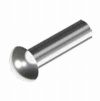 Roestvrijstalen bolkop klinknagel 3 x 6 mm