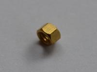 Messing Modelzeskant Moer M1,2  Per 10 stuks