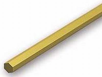 Zeskant Messing 2,38mm ( hol )