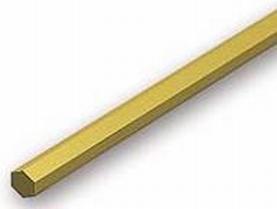 Zeskant Messing 3,5mm ( massief )