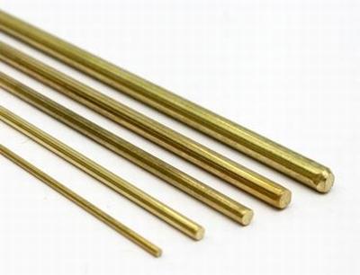 Messing rond 1mm ( massief )  Per 2 stuks
