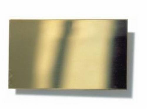 Messingplaat 1,5 mm DIK   Per Stuk