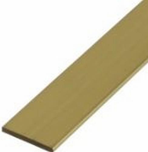 Messing Strip rechthoek massief 4 x 3 mm  Per Stuk