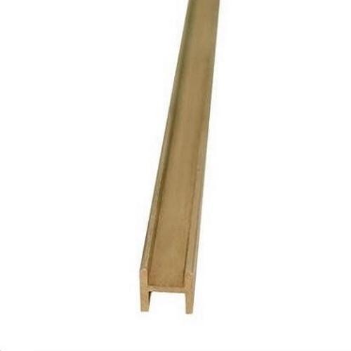 Messing H-Profiel 2,5 x 2,5mm  Per Stuk