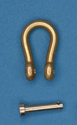 Messing Harp - Sluiting  7,6 * 4,6 mm  Per 2 stuks