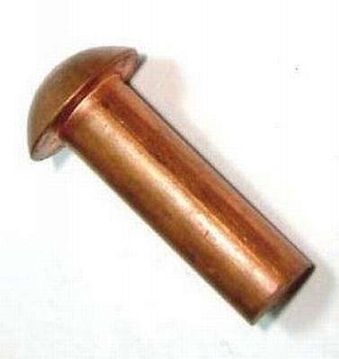 Bolkop klinknagel Koper 2mm x 8mm