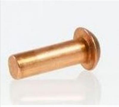 Messing bolkop klinknagel 1 x 6 mm