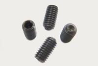 Stelschroef M2,5 x 4mm Volgens DIN 916 Blank staal (Zwart)