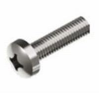 Roest Vrij Stalen Schroef met bolle cilinderkop  M1,6 x 8mm