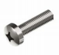 Roest Vrij Stalen Schroef met bolle cilinderkop  M1,6 x 12mm