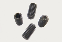 Stelschroef M3 x 8mm Volgens DIN 916 Blank staal  ( Zwart )
