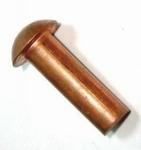 Bolkop klinknagel Koper 2mm x 4mm Per 25 stuks