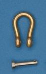 Messing Harp - Sluiting  9,5 * 6,5 mm Per 2 stuks