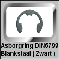 Asborgring DIN6799 Blank Staal (Zwart)