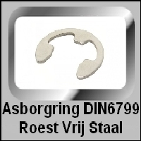 Asborgring DIN6799 Roest Vrij Staal