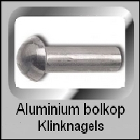 Bolkop klinknagels Aluminium