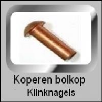 Bolkop klinknagels Koper