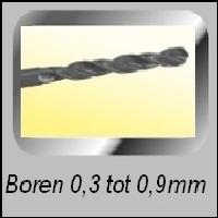 Boren 0,3 t/m 0,9mm