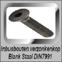 Inbus verzonken kop Blank staal 8.8