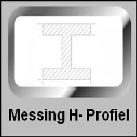 Messing H-Profiel