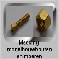 Messing Modelbouw bouten en moeren