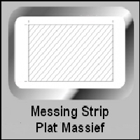 Messing Strip Rechthoek (massief)