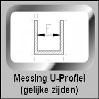 Messing U-Profiel (gelijke zijden)