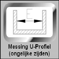 Messing U-Profiel (ongelijke zijden)