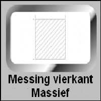 Messing Vierkant (massief)