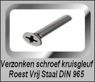 Schroeven RVS met verzonken kop DIN 965