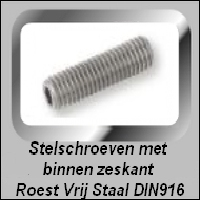 Stelschroef Roest Vrij Staal DIN916