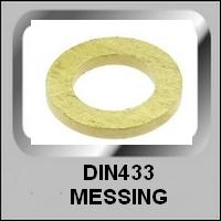 Vlakke Ringen DIN433 Messing