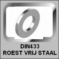 Vlakke Ringen DIN433 Roest Vrij Staal
