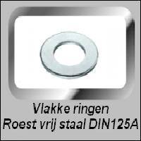 Vlakke Roest Vrij Stalen Ringen DIN125A