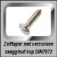 Zelftappers RVS verzonken kop DIN 7972