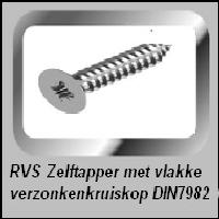 Zelftappers RVS verzonken kop DIN 7982