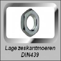 Zeskant Moer Laag DIN439